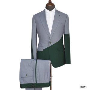 Men's Gray Green 2 Piece Suit